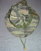 Hat Sun Hot Weather Tropical Boonie Military Jungle Type Ii Tiger Stripe 7 3/4