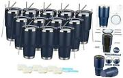 30oz/pack Stainless Steel Insulated Coffee Tumbler Double Wall Vacuum 12 Navy