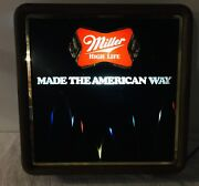 Vintage Miller High Life Beer Motion Bouncing Ball Lighted Sign Very Nice