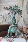 Teddy Handmade Interior Toy Collectable Gift Flower Doll Ooak Root Mandrake