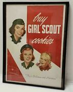 1950's Buy Girl Scout And Brownie Cookies Poster Framed