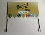Bandit Wines Wineries - Go Explore - California National Parks Metal Tin Sign