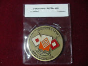 57th Signal Battalion Vincimus Spatium Military Challenge Coin Numbered 53