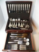 Kirk Repousse Sterling Silver Flatware For 12 Including 13 Servers, 121 Pc Nm