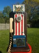 1976 Western Electric Bicentennial Pay Phone Telephone 3 Coin Slot Rotary Dial