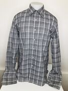 Tom Ford - Plaid French Cuff Mens 44/17.5 Shirt - Excellent / Unworn Condition