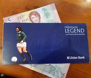 George Best Limited Edition Fiver Andpound5 Note X2 With Wallet Manchester United