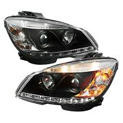 Spyder Auto 5042262 Drl Led Projector Headlights For 08-11 Mercedes-benz C300
