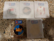 Lego Lot Of 5 Limited Edition Vip Coins Octan Space Pirate Castle Gold New