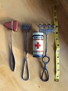 Lot Of Early Vintage Doctor Dr. Medical Surgical Tools Instruments