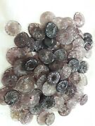Lot Of 200 Vintage Carved Glass Beads Flowers For Chandelier Parts 1