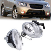 1 Pair Front Clear Fog Lights Lamp Come With Bulb Fit Hyundai Santa Fe 2007-2009