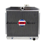 Aluminum Radiator For 1955-1957 Chevy Nomad Bel-air V8 Style Engine 1956 3row