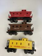 Lionel Lot Of 3 Caboose' 16578, 6017 And 6057