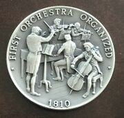 Boston Philharmonic Society 1st Orchestra Organized In U.s. Coin Medal