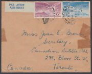 1948 Eire / Ireland Airmail 6d + 3d To Toronto, Canada