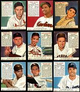 1952 Red Man Partial Complete Set - W/ Tabs 3.5 - Vg+