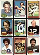 1976 Topps Football Almost Complete Set 3.5 - Vg+
