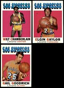 1971-72 Topps Los Angeles Lakers Almost Complete Team Set 7 - Nm