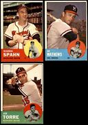1963 Topps Milwaukee Braves Team Set 4.5 - Vg/ex+