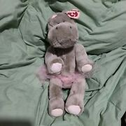Vintage Ty Beanie Babies Grace The Hippo 1993 Attic Treasures Collection 11andrdquo