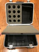 Mic Case - Holds 12 Mic's - Plus 2 Additional Storage Areas - Hard Shell Case