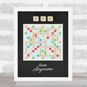 Scrabble Words Dad Personalised Dad Fatherand039s Day Gift Wall Art Print