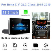 For Mercedes Benz C Glc V R Class 2015-2020 12.3 Car Gps Stereo Player Units