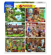 White Mountain Puzzles Steve Crisp 6-in-1 Puzzle Collection Set