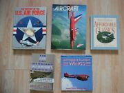 Vtg Aircraft Helicopter Airplane Book History Air Force Antique Classic Wings