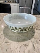 Pyrex Spring Blossom Crazy Daisy Green 4 Qt Mixing Bowl 404 Made In Usa Vintage