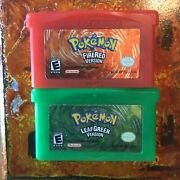 Pokemon Firered Version And Leaf Green Nintendo Gameboy Advance Authentic