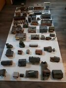 Ho Lot Scale Buildings Model Railroad Buildings And More Rare Vtg. Over 50 Items