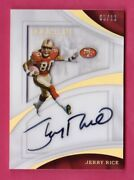 Jerry Rice Autograph /10 Shadowbox 2017 Panini Immaculate Collection Auto 49ers