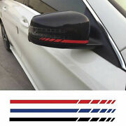 2pcs Car Styling Suv Vinyl Graphic Sticker Rearview Mirror Side Decal Stri Tph2