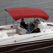 Shademate 80312 Red Bimini Top Poly Fabric And Boot Only4bow8andrsquol54h54andrdquo-60andrdquow