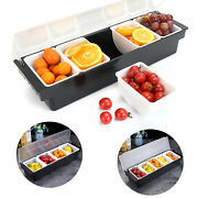 Abs Caddy Food Tray Fruit Boxes Food Tray Portable 5 Grids Dispenser Kitchen