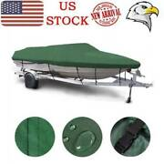 Waterproof Heavy Duty Boat Cover Fit V-hull Tri-hull Runabout Boat 16 Ft-18 Ft