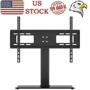 Table Top Tv Stand Base W/ Universal Bracket Mount Height Adjustable For 32-55