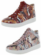 Fitflop Womens Rally Splatter Print High Top Sneakers