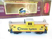 Mth Trains - Premier- Chessie System Extended Vision Caboose - Ln- Hb1