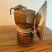 Vintage Streamlined Justrite Miners Lamp Carbide Lantern Free Shipping