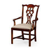 Chippendale Carved Mahogany Dining Armchair