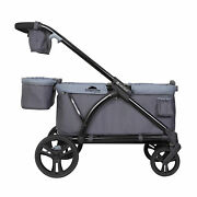 Baby Trend Expedition Push Or Pull Stroller Wagon Plus W/ Canopy Grey Open Box