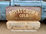 Vintage 1950andrsquos Royal Crown Cola Advertising Sign