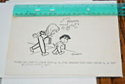 Old Lowell Hoppes A B C Is Before D E F Confused Kid Comic Strip Original Art