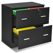 Costway 2-drawer Lateral File Cabinet For Letter, Legal Size W/lock Office Home