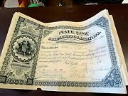 Antique Stocks State Line Gold Mining Co. 25 Shares5-31-1881a1109 We Ship
