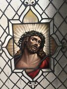 Magnifisent Large Antique Stain Glass Window
