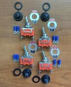 4 Bbt Marine Grade On/off 12 Volt 20 Amp Toggle Switches W/ Boots And Terminals
